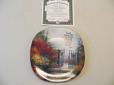 "Thomas Kinkade ""I Am The Light Of The World"" Collector Plate"
