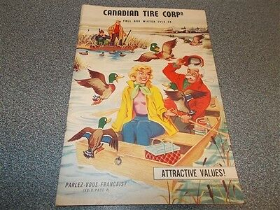 Vintage Fall / Winter 1958-59 Canadian Tire Catalog Great Color