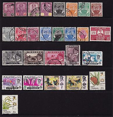Federated Malay States Johore Stamps all different