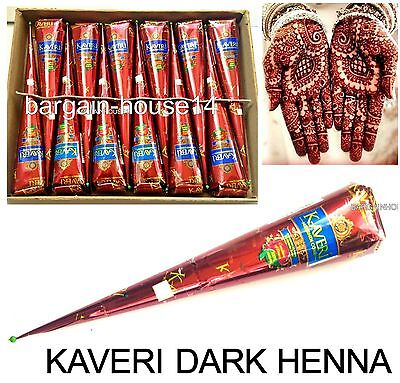 200 X Darkest Herbal Henna Mehndi Tattoo  Kit Paste Cones - 100% Color Guarantee