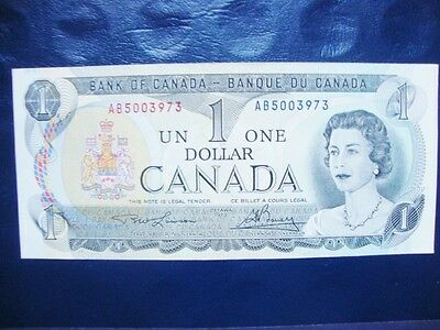 Canada 1973 (One) Dollar Bill Canadian Note Banknote