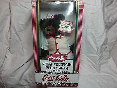 Vintage Estate Coca Cola Soda Fountain Teddy Bear