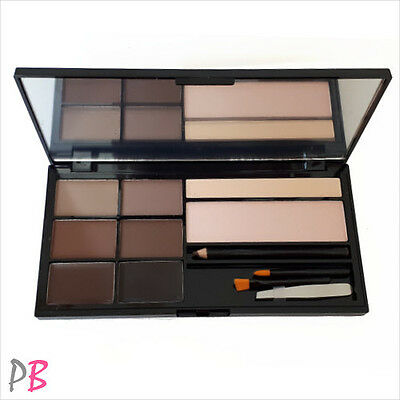 Makeup Revolution Ultra Brow Palette Eyebrow Enhancing Kit - Medium to Dark