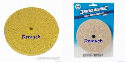 """New Sisal Buffing Polishing Wheel 150mm 6"""" Weld Grind Cleaning Bench Grinder UK✔"""