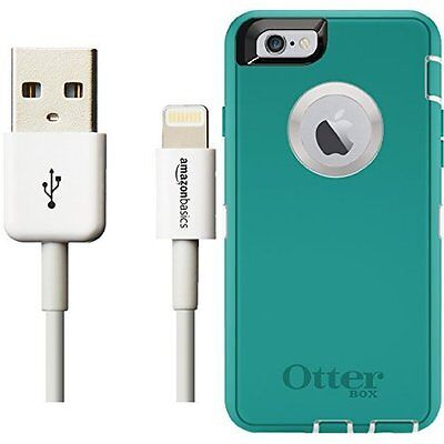 Otterbox Defender Series Case for iPhone 6/6s and Lightning Cable (6-Feet) Pack