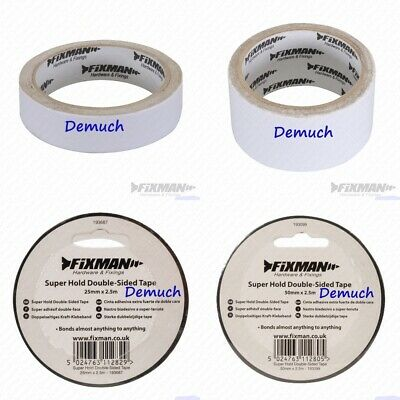 DOUBLE SIDED TAPE Super Hold Extra Strong Adhesive Sticky Craft Clear 25mm 50mm
