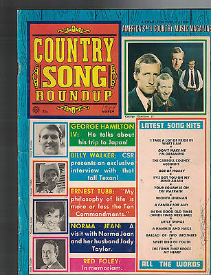 Country Song Roundup March 1969 George Hamilton IV Ernest Tubb Red Foley