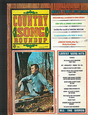 Country Song Roundup May 1969 Stonewall Jackson Jerry Lee Lewis Tom T Hall