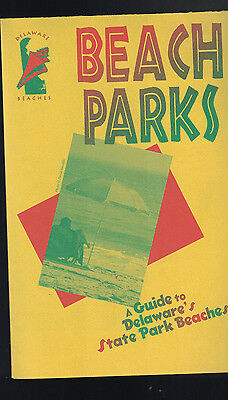 A Guide to Delaware's State Park Beaches 1990s Brochure