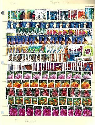AZ1S Australia Years 1985-2003, 2 Pages, 360 stamps 70 different all off paper