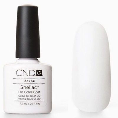 CND Shellac vernis a ongle semi-permanent 40501 blanc French.