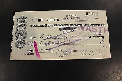 1953 Barclays Bank (Dominion, Colonial and Overseas) bank check
