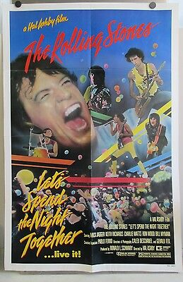 1982 The Rolling Stones Let's Spend The Night Together Movie Promo Poster 41""