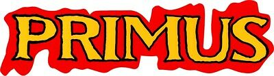 8010 Primus Red Yellow Logo Rock Music Les Claypool Giant Sticker / Decal