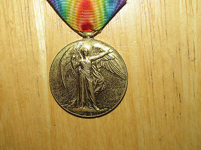 WW1 British Victory Medal named 26th Canadian Infantry WIA 1918