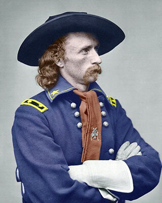 George Armstrong Custer #1 Photo 8X10 - COLORIZED