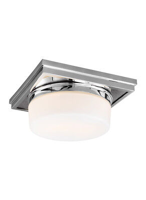 Feiss FM514CH Mandie 2 Light 12 inch Chrome Flush Mount Ceiling Light