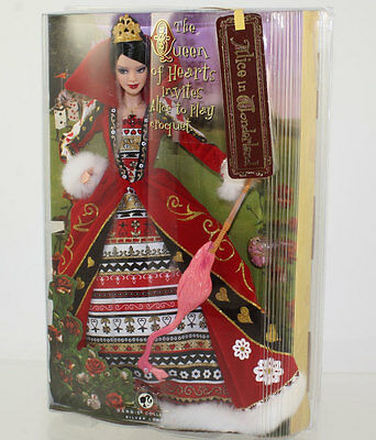 Mattel - Barbie Doll -2007 Queen of Heart Alice in Wonderland (Silver Label) *NM