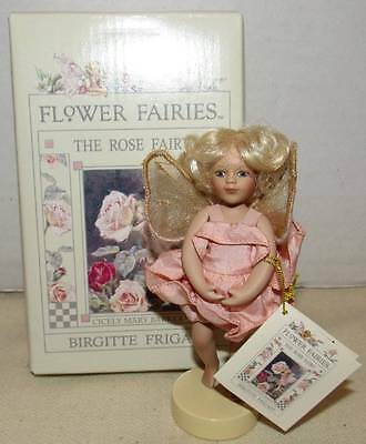 "Birgitte Frigast Porcelain Flower Fairies ""the Rose Fairy"""