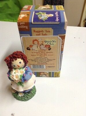 """Raggedy Ann & Andy """"IF FRIENDS WERE FLOWERS I'D PICK YOU"""" Enesco"""