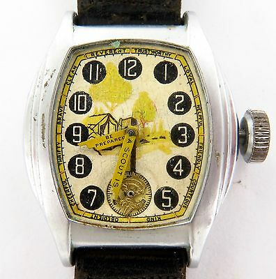 "`super Rare 1936 Usa ""Boy Scouts / Scouting"" Ingersoll Wristwatch."