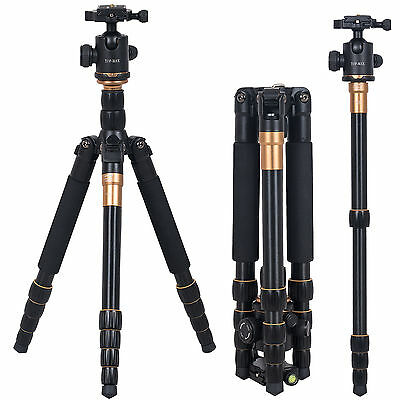 Camera Tripod Stand Travel Pro Digital Ball Head Camcorder DSLR Monopod Q666