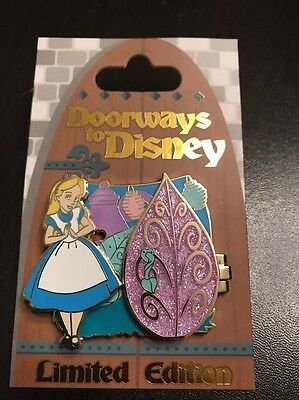 Doorways To Disney Pin Alice Mad Hatter Teacup Tea Saucers Limited Edition 4000