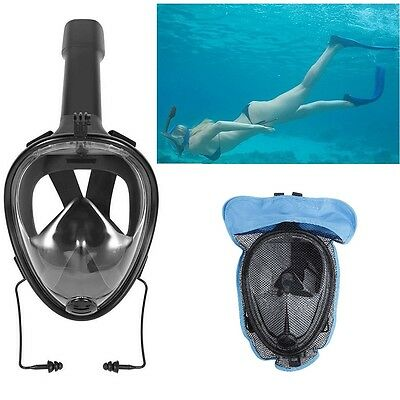 180° Full Face Snorkeling Mask Scuba Diving Swimming Snorkel Breather For GoPro