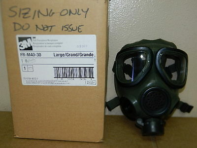 3Ml Fr-M40-10 M40 Full Facepiece Respirator Scba Gas Mask Size Large