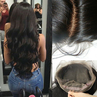 Real Indian Virgin Human Hair Wig Silk Top Full Lace Wigs Long Hair