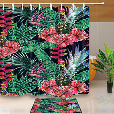"""180*180cm / 71"""" Waterproof Polyester Shower Curtain Bathroom Palm and pineapple"""