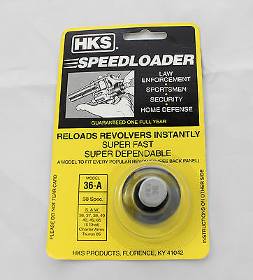 HKS Speedloader model 36-A Smith and Wesson Ruger Charter Arms Taurus