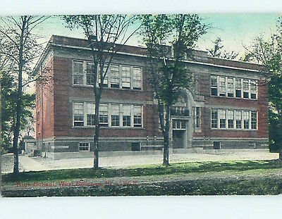 Unused Divided-Back WEST CHICAGO HIGH SCHOOL Chicago Illinois IL k0185