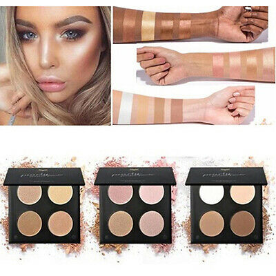 4 Colors Shimmer Matte Highlighter Bronzer Eyeshadow Powder Cosmetics Makeup TOP