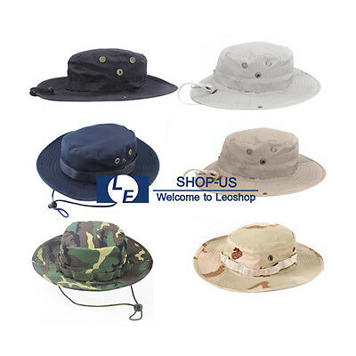 570caf2b4ea New Men Boonie Bucket Hat Cap Wide Hunting Fishing Outdoor Camping Washed  Cotton