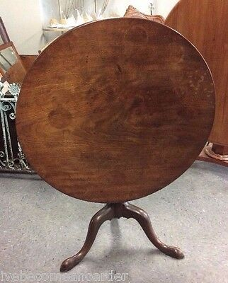 Antique English Mahogany Tilt Top Table