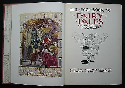 Rare Antiquarian 1911 First Edition Big Book Of Fairy Tales Charles Robinson