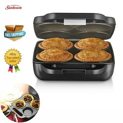 Electric Pie Maker Making Machine Makes 4 Pies Lunch Snack Leftover Meat Sweet