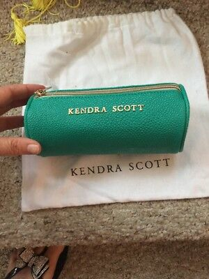NWT KENDRA SCOTT Case ZIP AWAY Jewelry Organizer Dark Iridescent