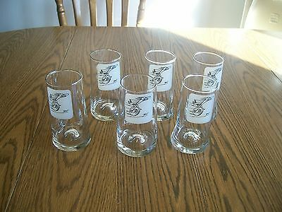 bc comic strip by johnny hart lot of 6 drinking glasses beer vintage odd shaped