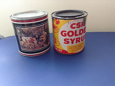 Vintage Tins --- Milk Tin & Golden Syrup Tin
