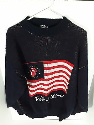 Rolling Stones Sweater Size Large - Iconic Graphic - Pullover