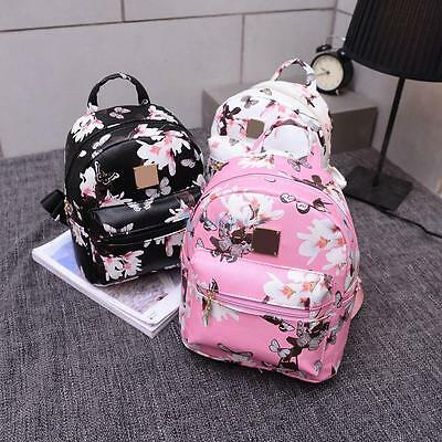 Womens Girls Floral Backpack Rucksack School Travel Shoulder Bag Handbag Gift US