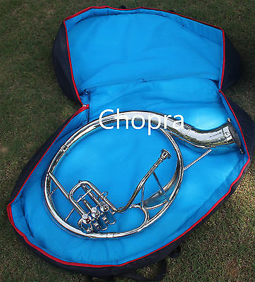 "SOUSAPHONE 22"" Bb "" Chopra "" PLATED 3 VALVE WITH BAG MOUTH PIECE 140316"