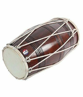 Brown Musical Dholak With Dori Made by Dorpmarket