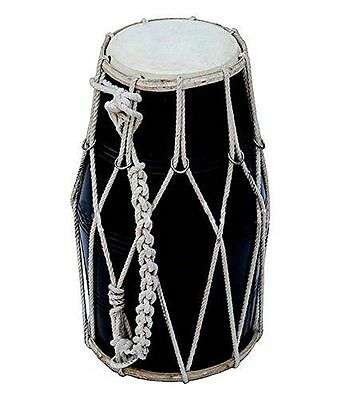 Black Color Dholak With Dori