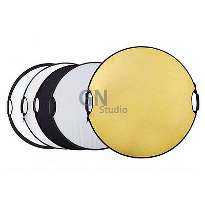 """110cm 43"""" Photography Studio 5 in 1 Collapsible Multi Light Reflector UK Local"""