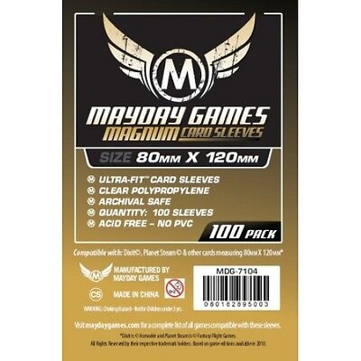 Mayday Games Magnum Card Sleeves 80x120mm (100 Pack)