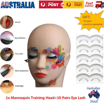 Massage Training Mannequin Head Makeup Practice Graft Eyelash Lashes Extension