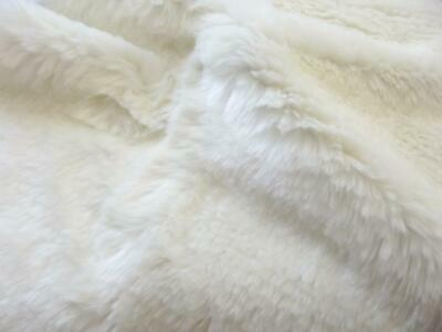 Super Luxury Faux Fur Fabric Material - PLUSH SUPER SOFT IVORY